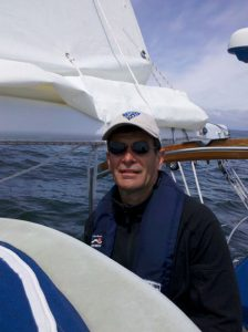 Don Yager, Sail Designer and Custom Sailmaker sailing Puget Sound